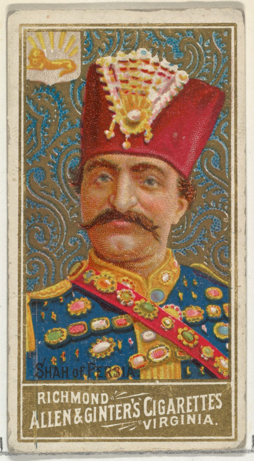 Shah of Persia, from World's Sovereigns series (N34) for Allen & Ginter Cigarettes