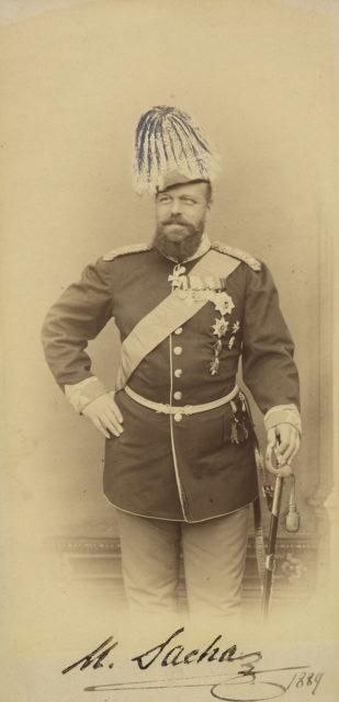 Alexander III, smiling, 1889