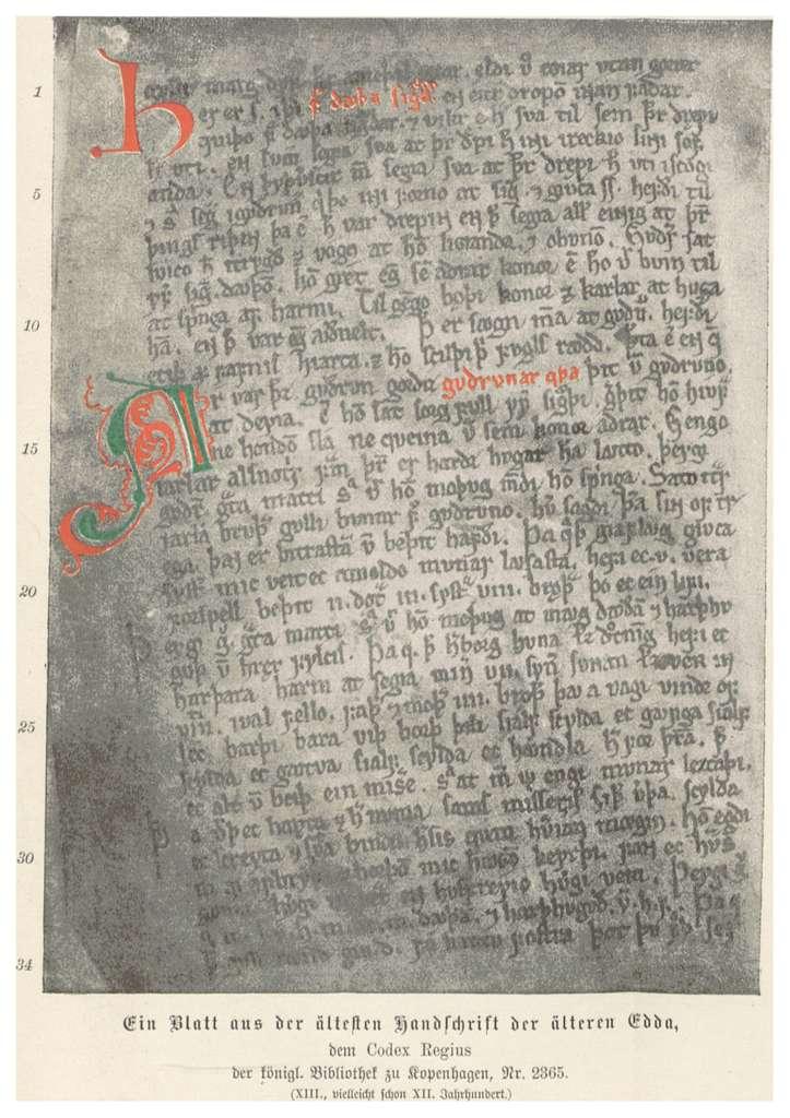 (Baumg1889) Ein Blatt aus der älteren EDDA