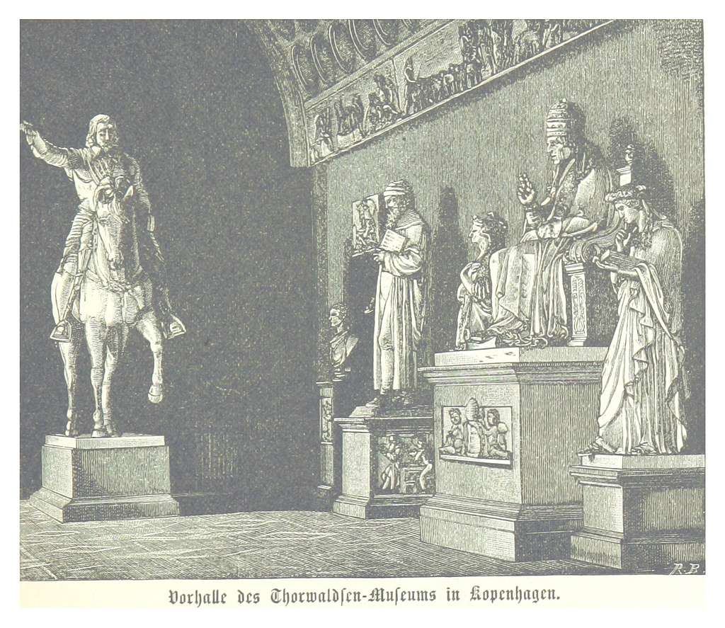 (Baumg1889) Vorhalle des Thorwaldsen Museums in Kopenhagen