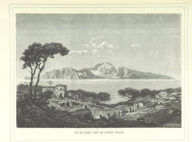 """Gulf of Naples from """"[Cent tableaux de géographie pittoresque, avec une introduction topographique.]"""""""