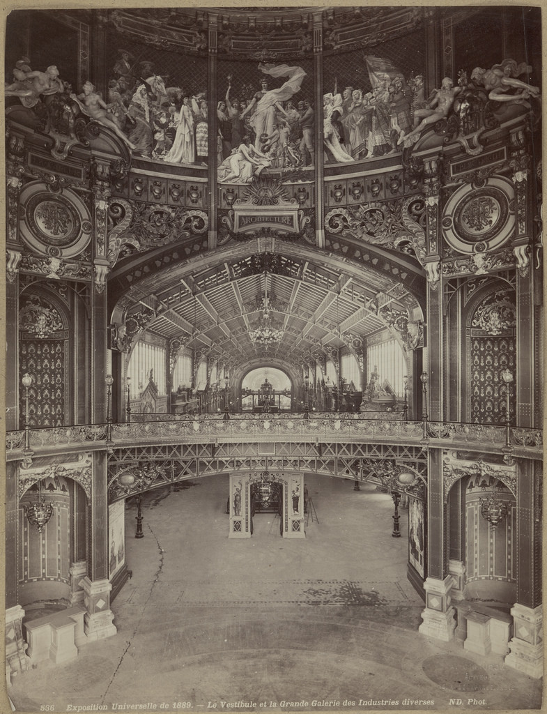 La Grande Galerie des Industries diverses. Paris World Exhibition 1889