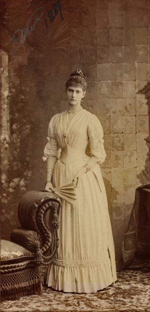 Princess Alix of Hesse. 1889.