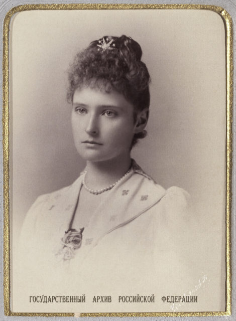 Princess Alix of Hesse and by Rhine. 1889.