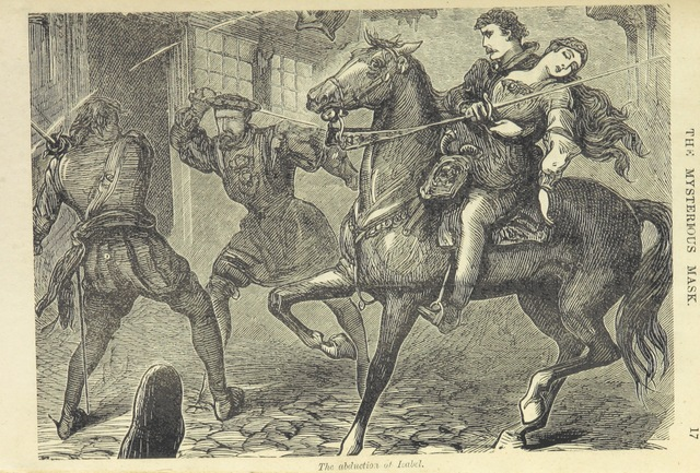 """The abduction of Isabel from """"The Mysterious Mask. (A Story of Old London.)"""""""