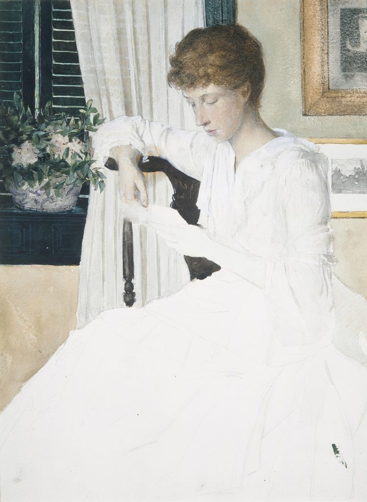Anna Dwight Weir Reading a Letter