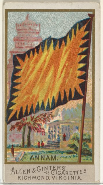 Annam, from Flags of All Nations, Series 2 (N10) for Allen & Ginter Cigarettes Brands
