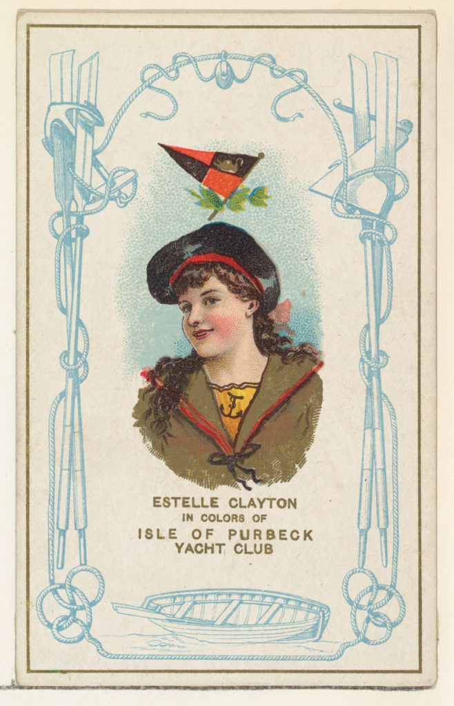 Estelle Clayton in Colors of Isle of Purbeck Yacht Club, from the Yacht Colors of the World series (N140) issued by Duke Sons & Co. to promote Honest Long Cut Tobacco