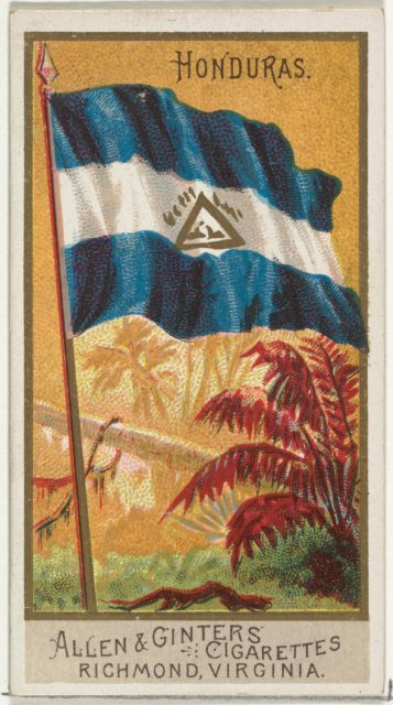 Honduras, from Flags of All Nations, Series 2 (N10) for Allen & Ginter Cigarettes Brands