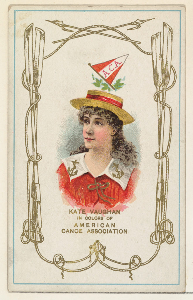 Kate Vaughan in Colors of the American Canoe Association, from the Yacht Colors of the World series (N140) issued by Duke Sons & Co. to promote Honest Long Cut Tobacco