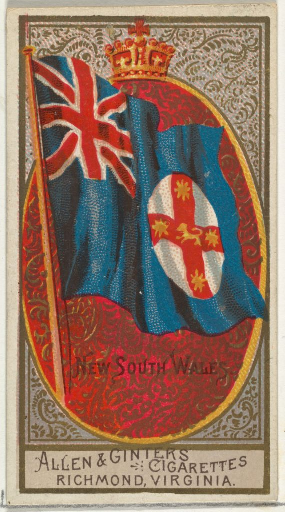 New South Wales, from Flags of All Nations, Series 2 (N10) for Allen & Ginter Cigarettes Brands