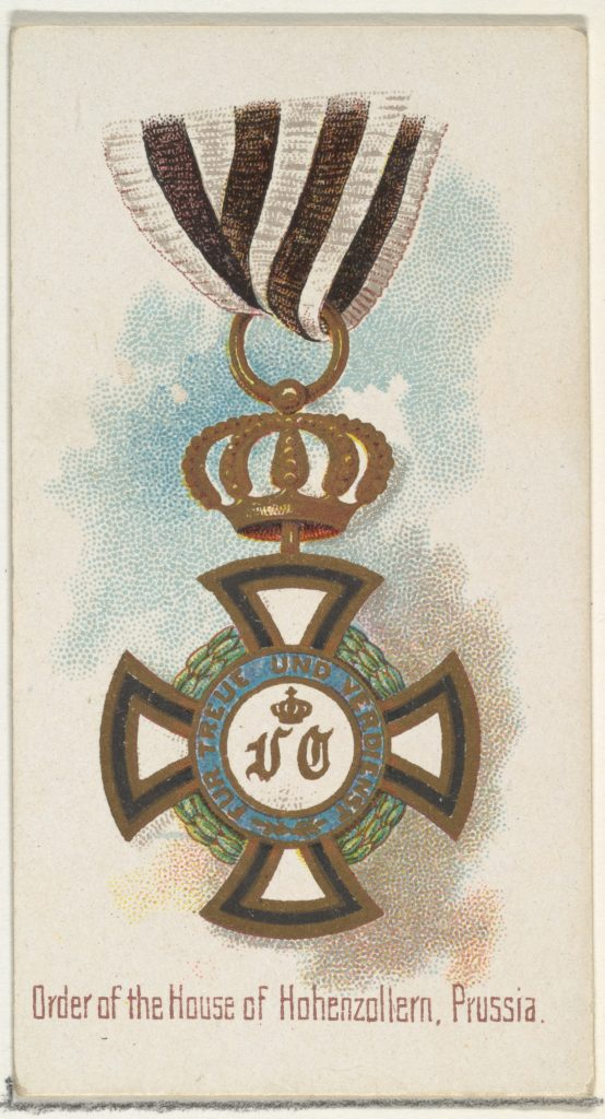 Order of the House of Hohenzollern, Prussia, from the World's Decorations series (N30) for Allen & Ginter Cigarettes