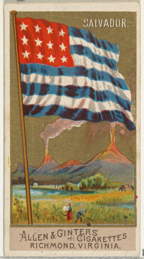 Salvador, from Flags of All Nations, Series 2 (N10) for Allen & Ginter Cigarettes Brands