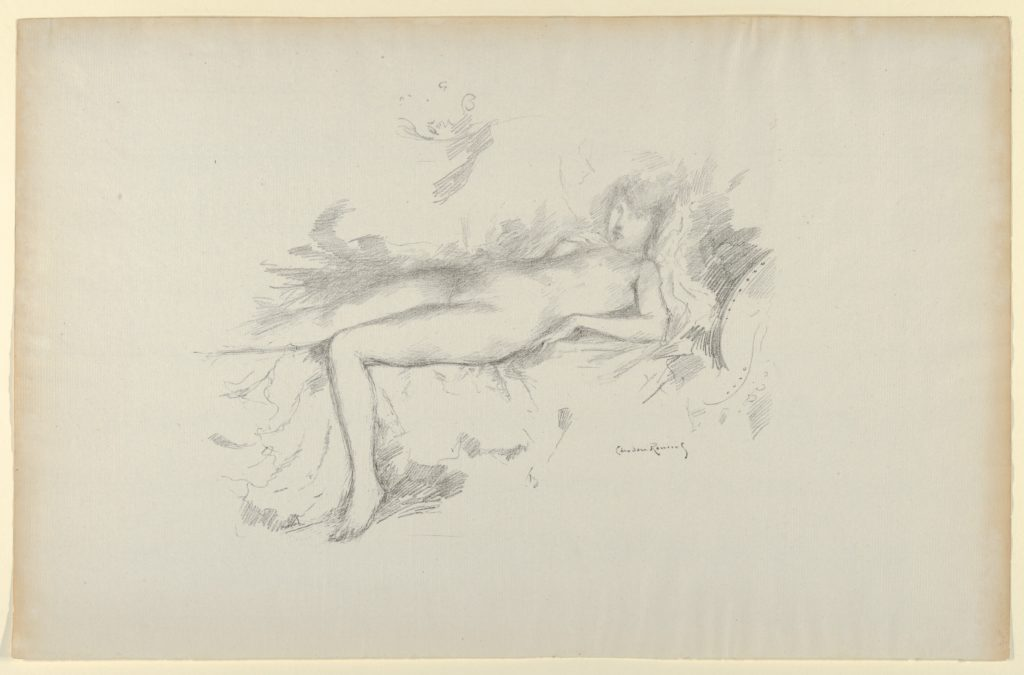 Study from the Nude, Figure Reclining