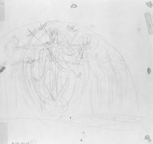 Trinity Lunette, Study for South End of the Special Collections Hall