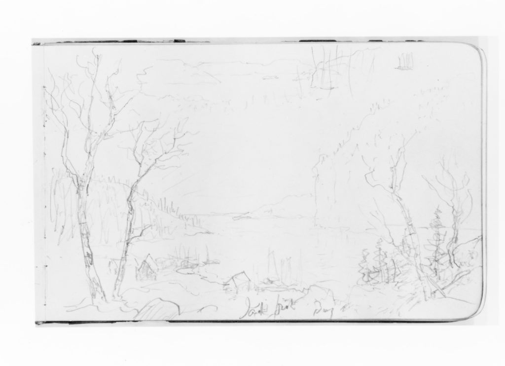 Two Sketches of Bay Scenery (from Sketchbook)