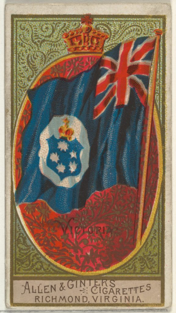 Victoria, from Flags of All Nations, Series 2 (N10) for Allen & Ginter Cigarettes Brands