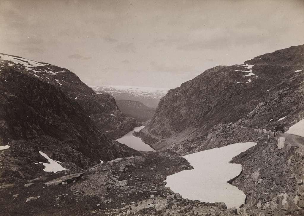 231. Hardanger, Seljestadjuvet med Folgefonnen - NB bldsa AL0231