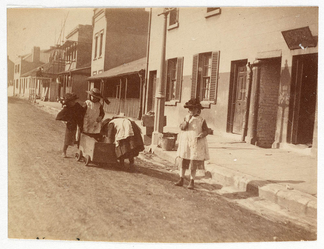 Children in Street from Sydney, ca. 1885-1890 / photographed by Arthur K. Syer