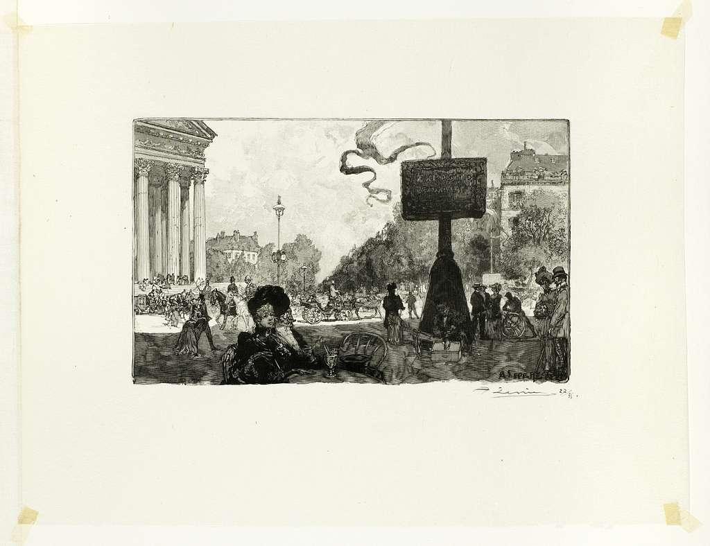 Corner of the Rue Royale, plate sixteen from Le Long de la Seine et des Boulevards