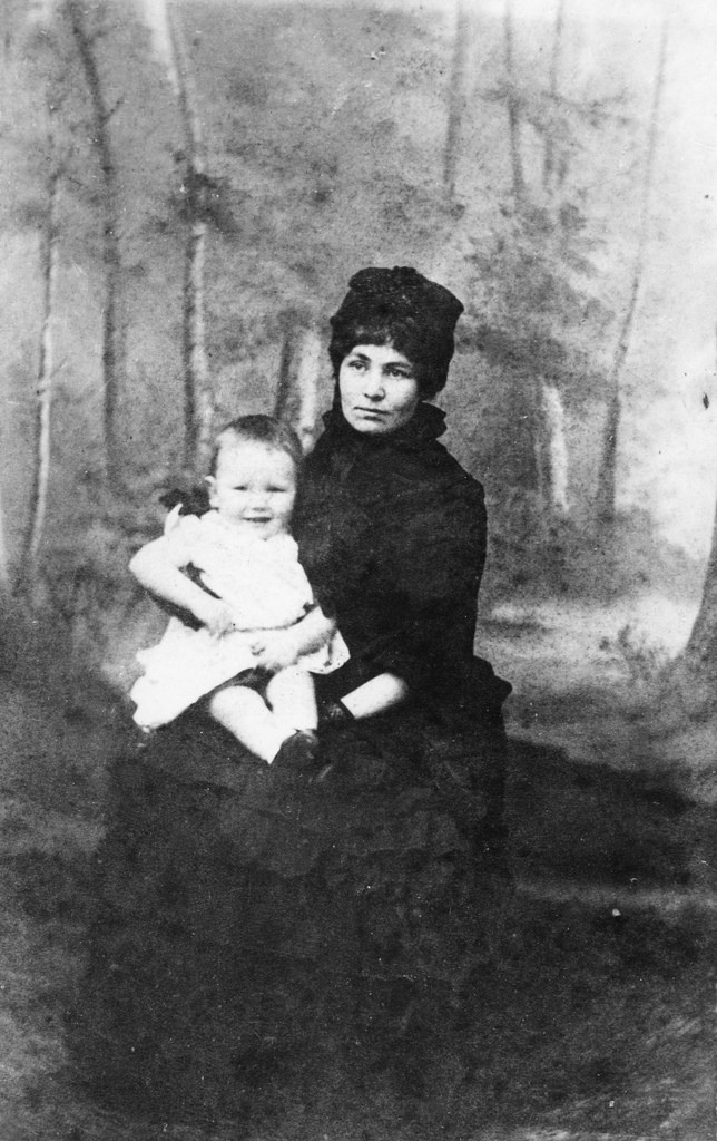 Emmeline Pankhurst with [Harry], c.1890.
