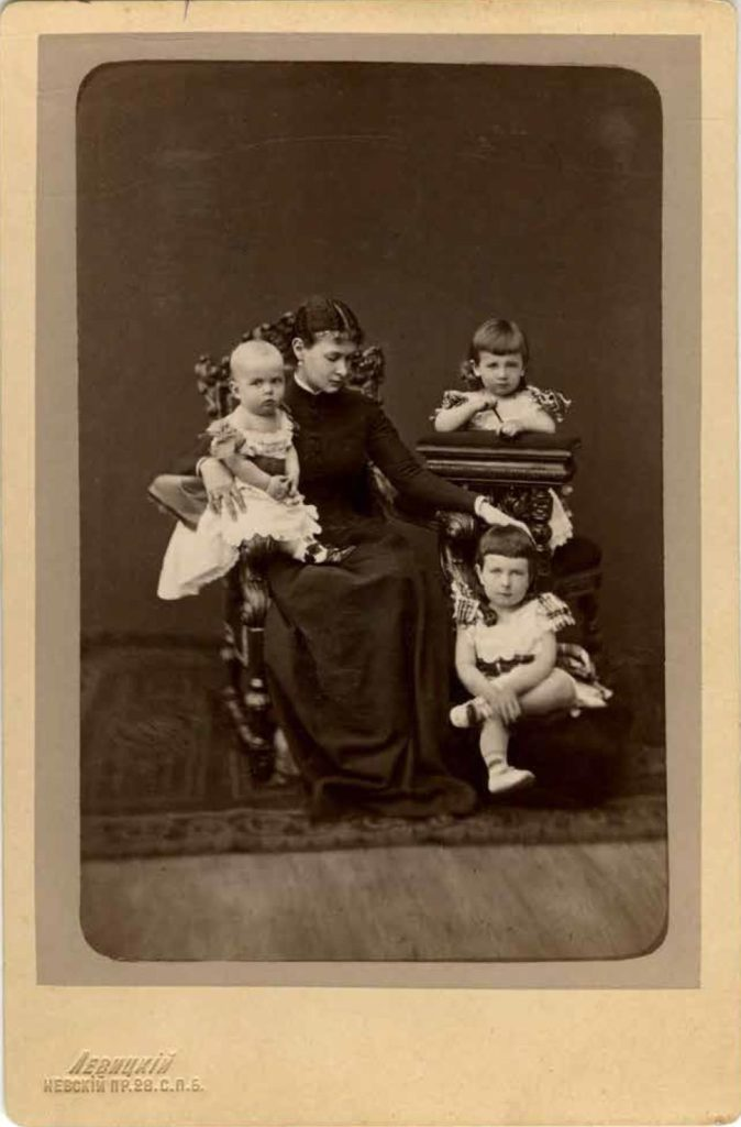 Grand Duchess Maria Pavlovna with children, Grand Dukes Kirill, Boris and Andrey Vladimirovich