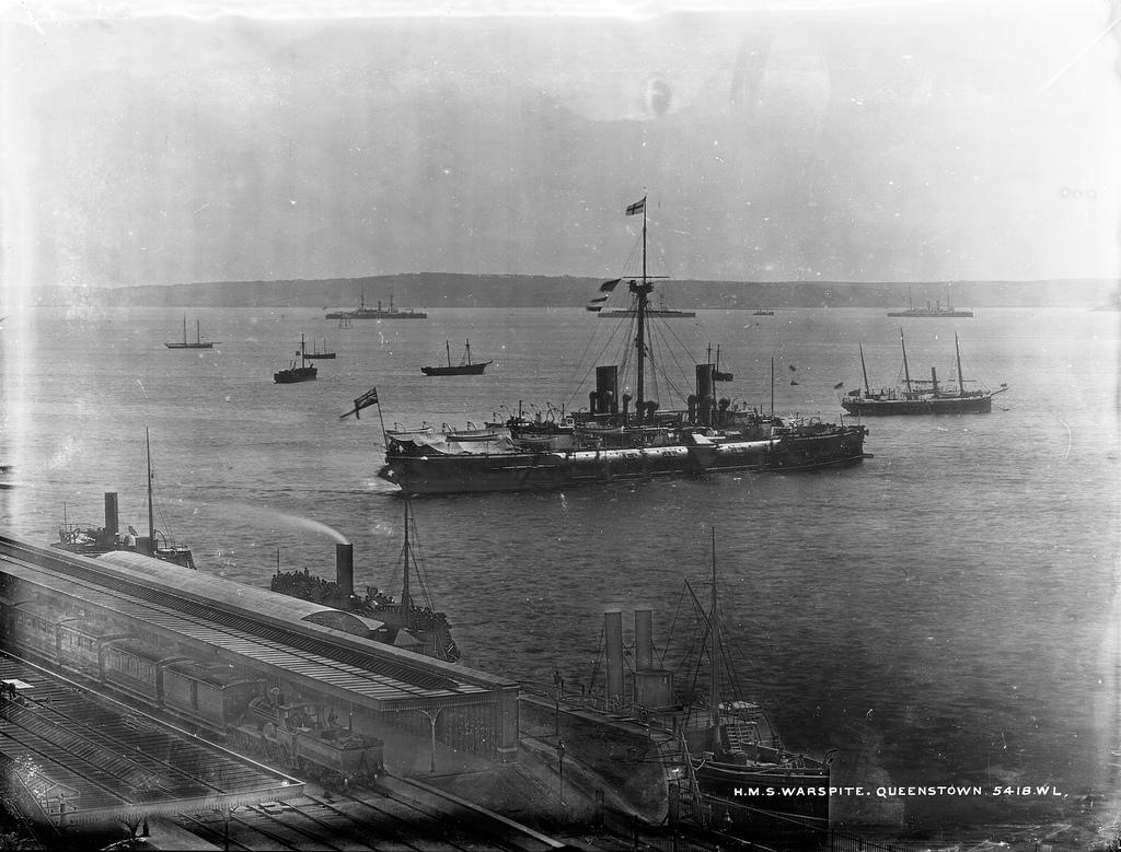 H.M.S. Warspite at Queenstown, now Cobh
