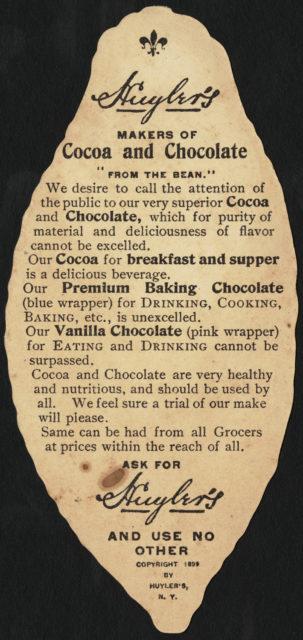 Huyler's Cocoa [back]