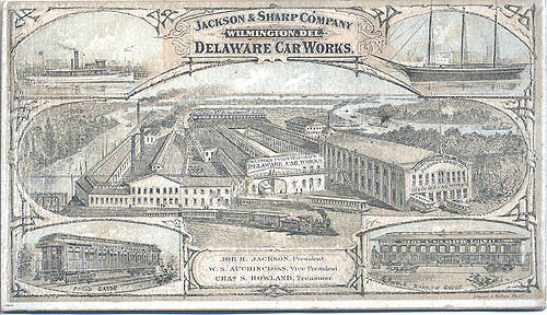 Jackson & Sharp Company Delaware Car Works