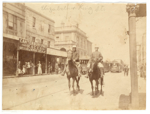 King and Elizabeth Street corner from Sydney, 1890 / photographed by Arthur K. Syer