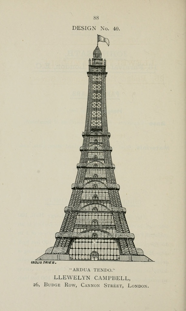 Llewelyn Campbell, London. Great Tower For London. Proposed design.