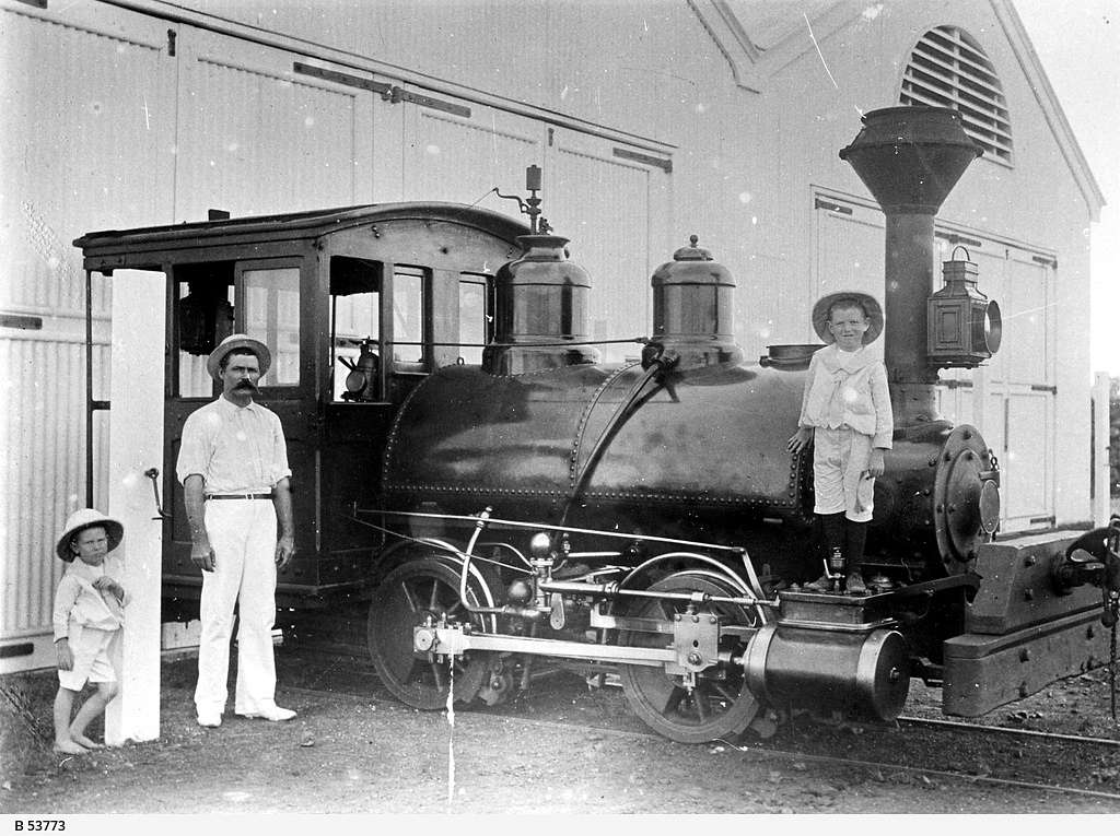 Locomotive called the 'Sand Fly'