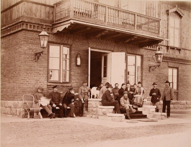 Members of the imperial family in Spala. 1890