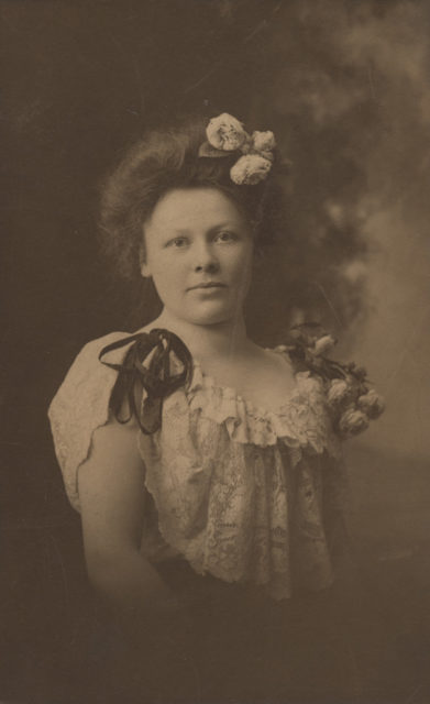 Portrait of Charlotte Maude Green (Langell) at fifteen, date unknown