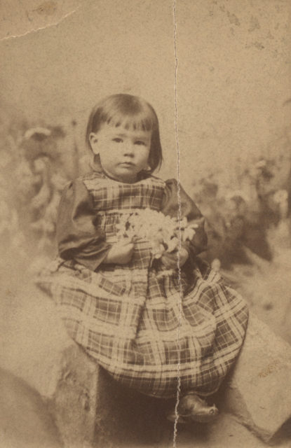 Portrait of young child, Florence Sallows Saunders