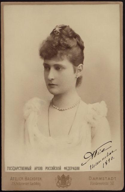 Princess Alix of Hesse. 1890.