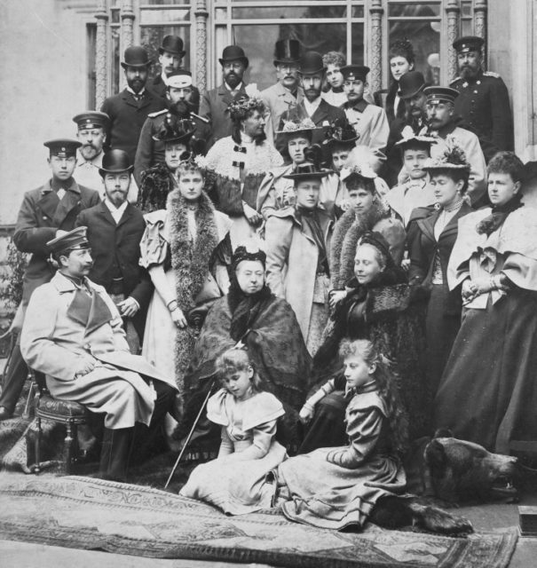 Romanov Family with Queen Victoria of Great Britain