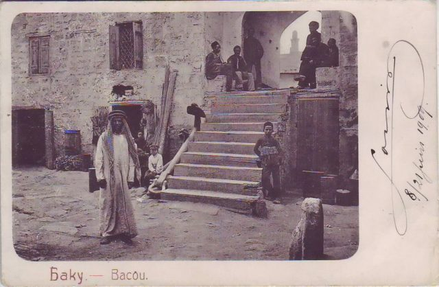The ancient quarters of Baku. The Arabian traveler.
