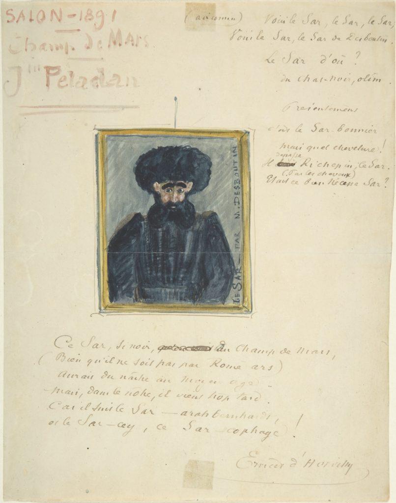 Satirical Drawing of the Sâr Joséphin Peladan