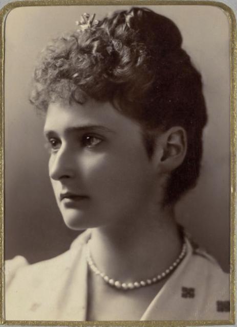 Alexandra Feodorovna - Princess Alix of Hesse. 1891.