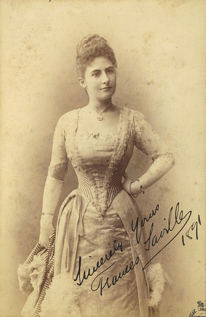 Frances Saville, Australian soprano, principal soprano with the Vienna Hofoper and aunt of Frances Alda, 1891 / Freeman & Co.