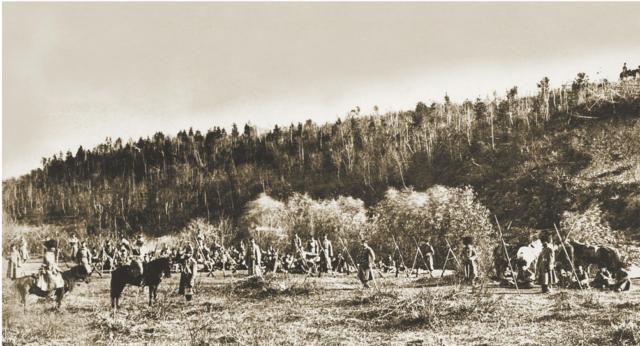Nikolai Aleksandrovich Romanov visiting Transbaikal region