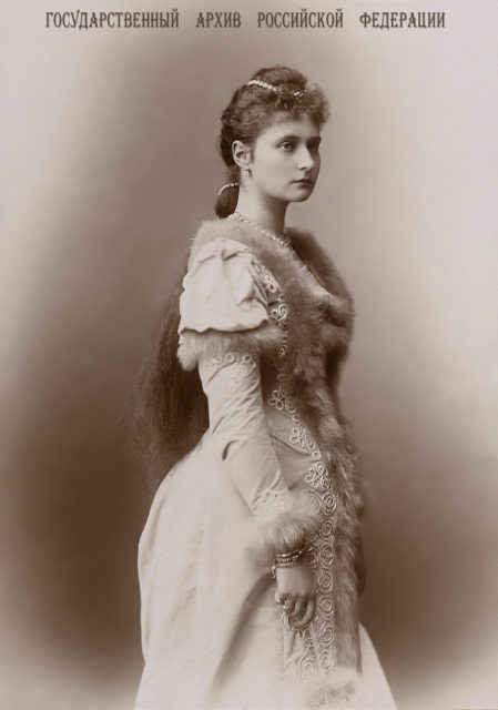 Princess Alix of Hesse and by Rhine 1891.
