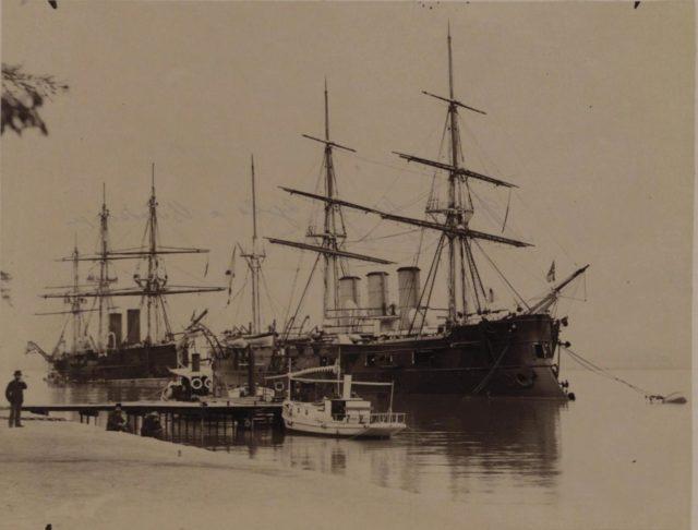 "Russian ships - the frigates ""Memory of Azov"", ""Vladimir Monomakh"""