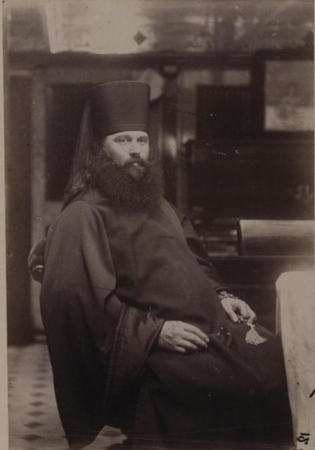 The confessor of the successor of the prince is Philaret father from the Alexander Nevsky Lavra. Nicolas II Asia Tour