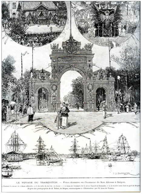 The Voyage of the Tsarevich - Festivities given in honor of His Highness in Saigon, 21-3-1891