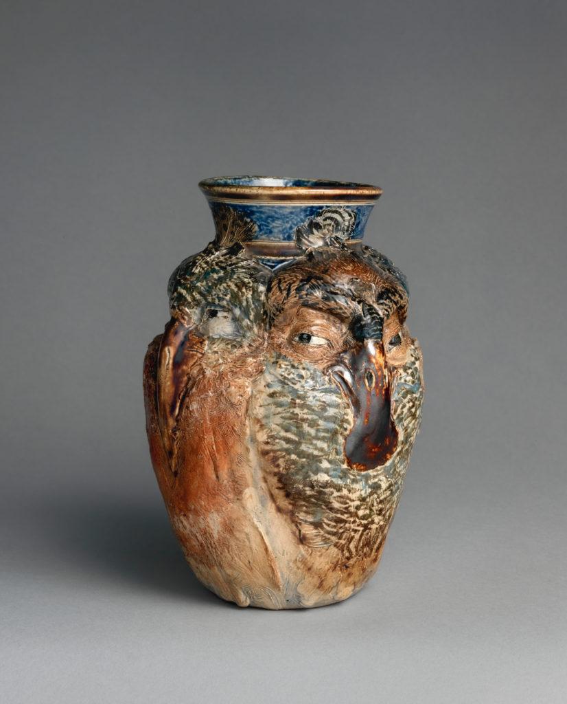 Jar with four birds