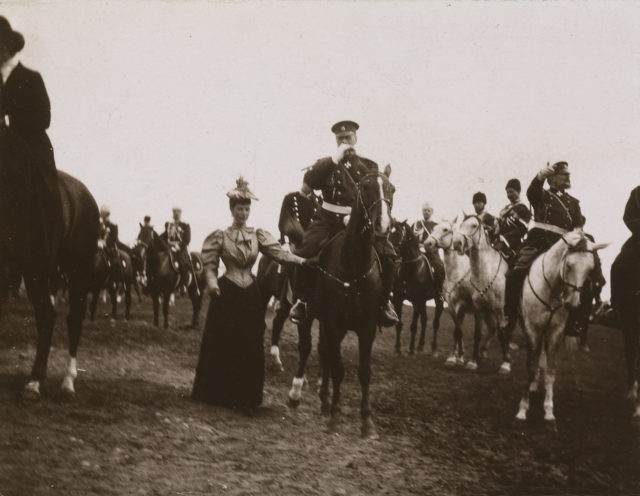 Alexander III and Maria Feodorovna at the military parade