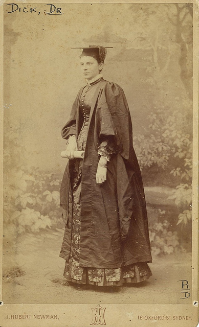 Dr. Frances Dick, first woman to practise medicine in New South Wales, Sydney, ca. 1892 / photograph by J. Hubert Newman