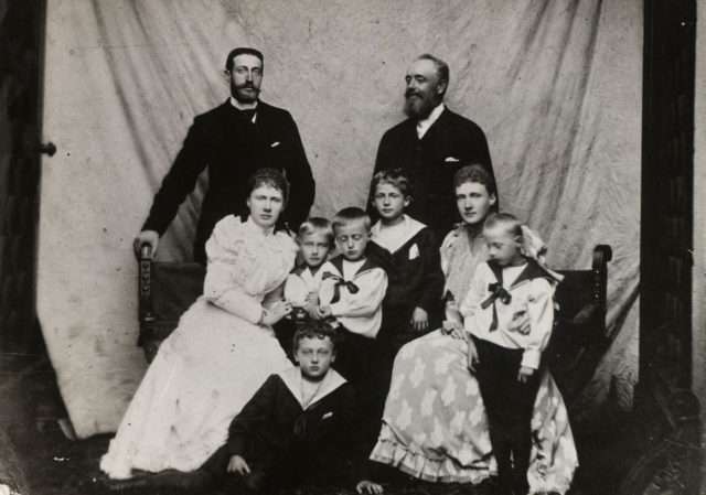 Grand Duke Constantine Romanov with children